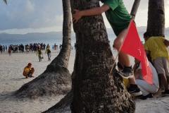 Kai Rappé op de Fillipijnen op het eiland Boracay